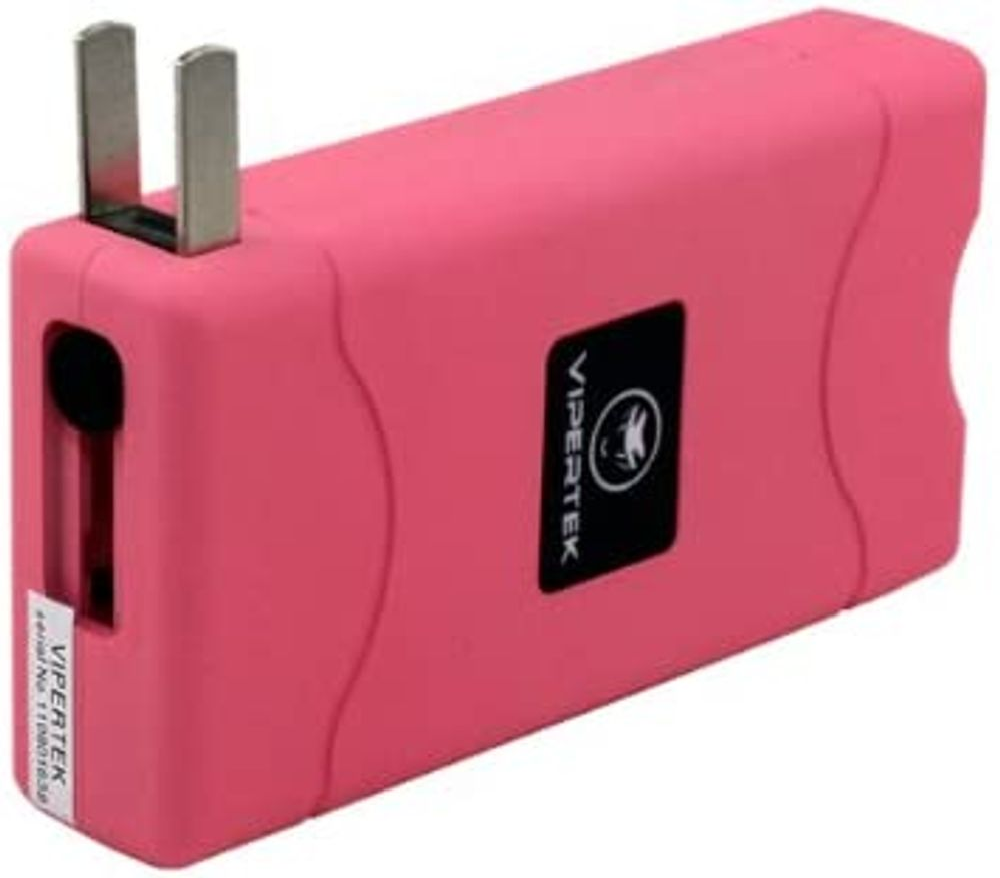 VIPERTEK VTS-880 - 30 Billion Mini Stun Gun - Rechargeable with LED Flashlight, Pink