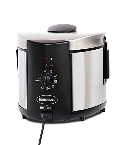 Masterbuilt Butterball MB23015018 Electric Fryer, 5 L, Stainless, 5L