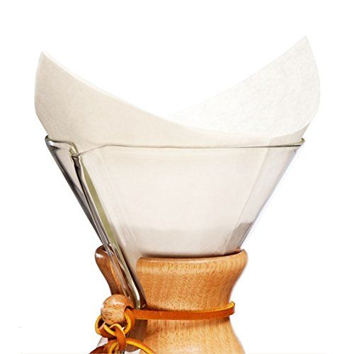 Chemex Classic Coffee Filters, Squares, 100 ct - Exclusive Packaging