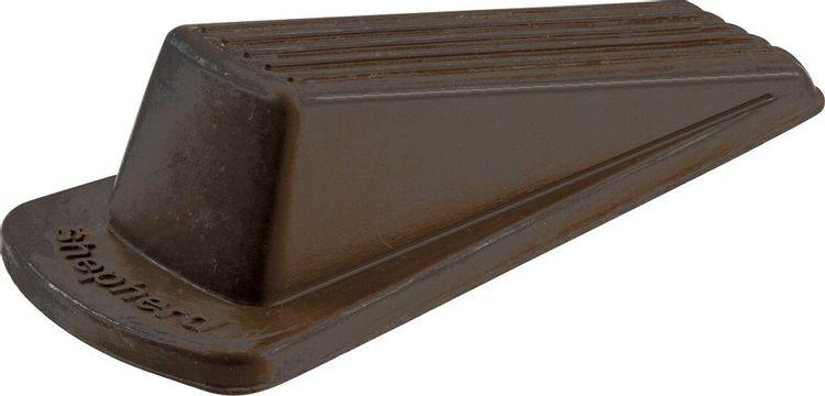 Shepherd Hardware 9133 Heavy Duty Rubber Door Wedge, Brown