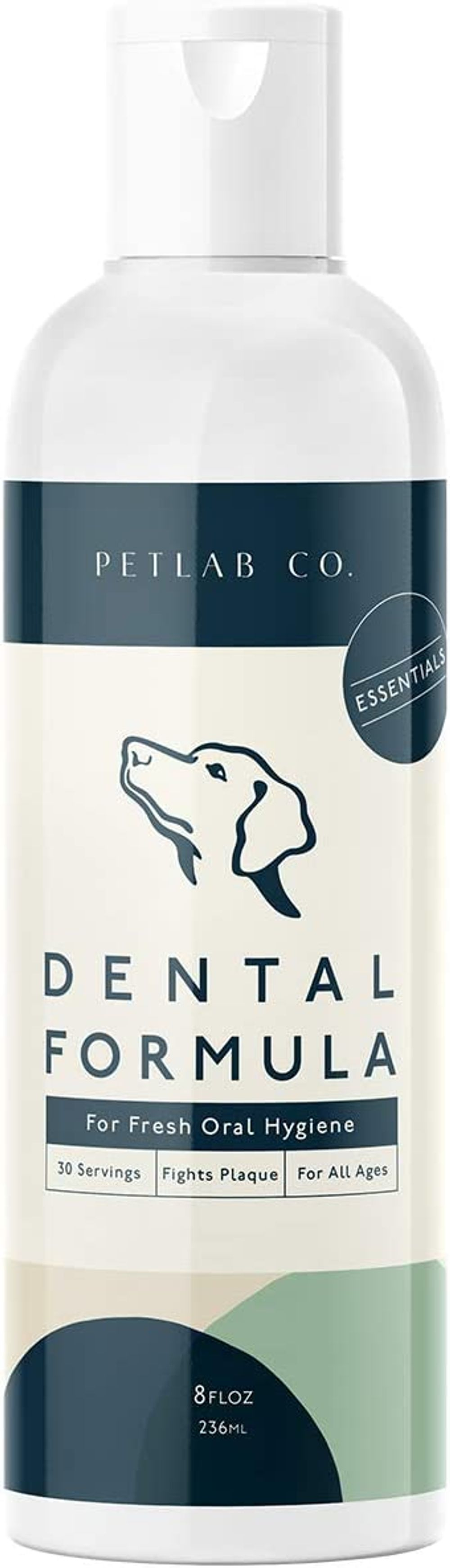 Petlab Co. Dental Formula Water Additive for Dogs | Targets Dog Plaque and Tartar Build-UpforFresher Breath and Healthier Gums | Fresh Drinking Oral Hygiene Care (No Brush Required)