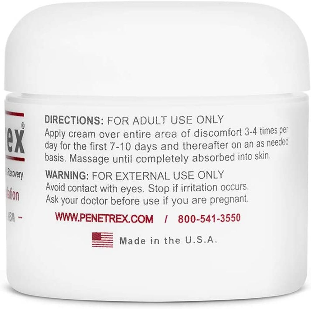 Penetrex Therapy Cream, 2 Oz. — Intensive Concentrate for Relief & Recovery - Inflammation Formulation with Arnica, Vitamin B6 & MSM (DMSO2) | for Your Back, Neck, Knee, Hand, Shoulder, Foot, etc.