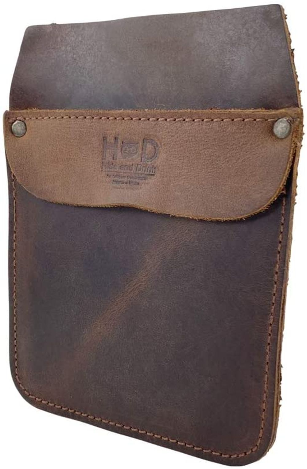 Hide & Drink, Durable Leather Work Pocket Organizer for Tools / Pens, Jeans Back Pocket Quick Grab Carry Job Tools, Office & Work Essentials Handmade Includes 101 Year Warranty :: Bourbon Brown
