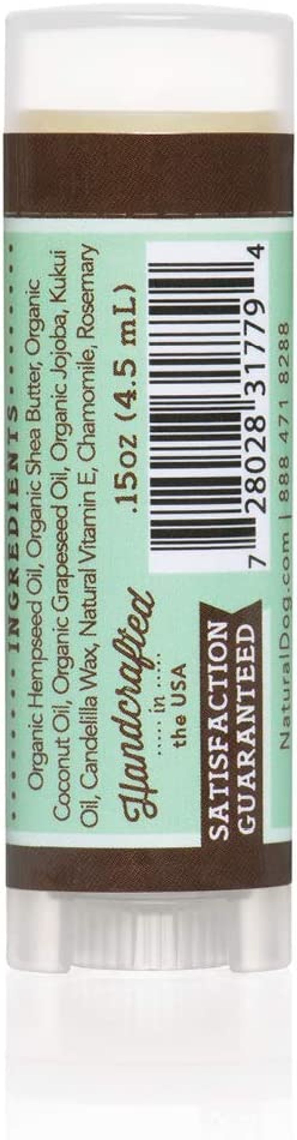 Natural Dog Company – Snout Soother | All-Natural Remedy for Chapped, Crusty, and Dry Dog Noses | Veterinarian Recommended – 0.15 Oz Trial Stick