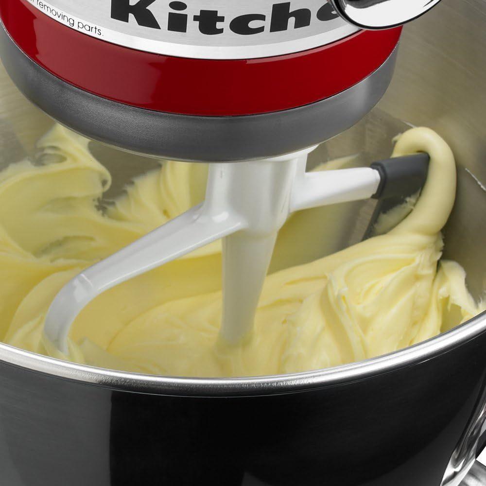 KitchenAid KFE5T Tilt Head Flex Edge Beater, 4.5/5 Quart, White