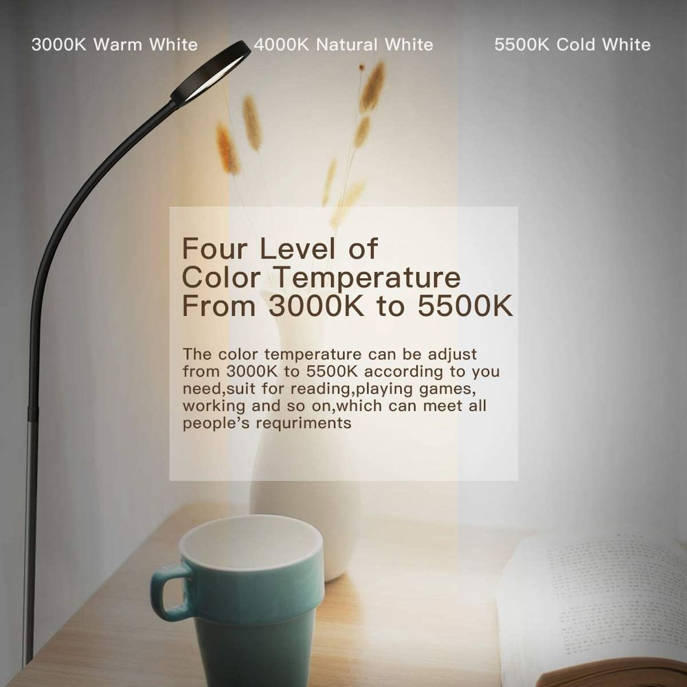Floor Lamp, Remote & Touch Control 2500K-6000K LED Floor Lamp for Bedroom and Floor Lamp for Living Room and 4 Color Temperatures Standing Lamp, dodocool Standing Light for Bedroom Office Reading
