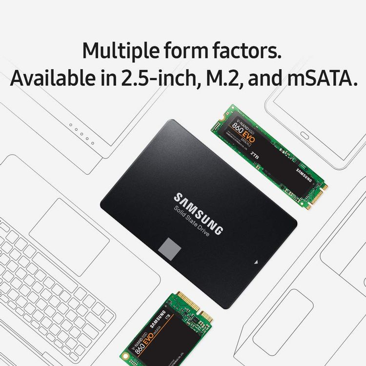 Samsung SSD 860 EVO 250GB 2.5 Inch SATA III Internal SSD (MZ-76E250B/AM)