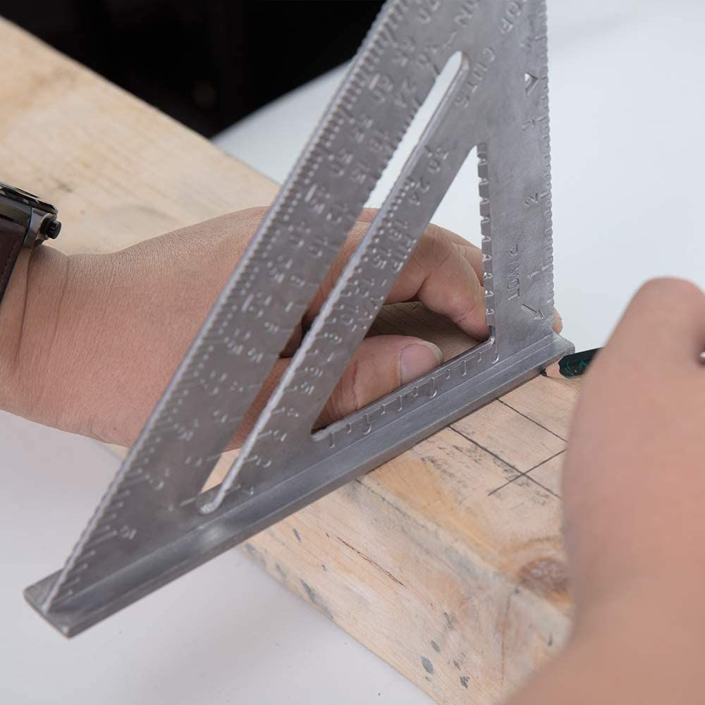 Framing Square 7 Inch Square Tool Rafter Square Layout Tools Professional Aluminum Combination Square