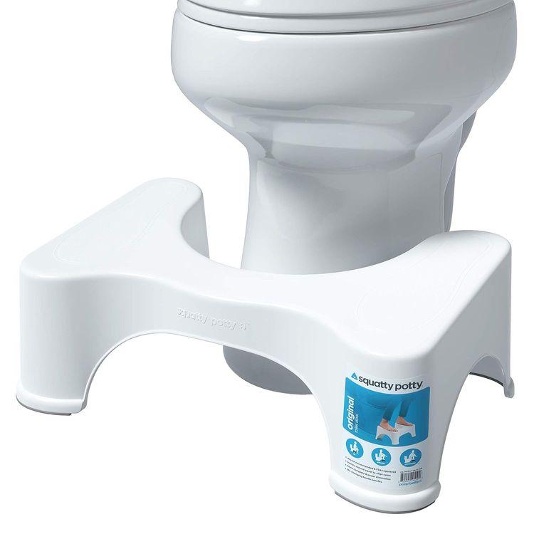 """Squatty Potty The Original Bathroom Toilet Stool, 7"""" height, White"""