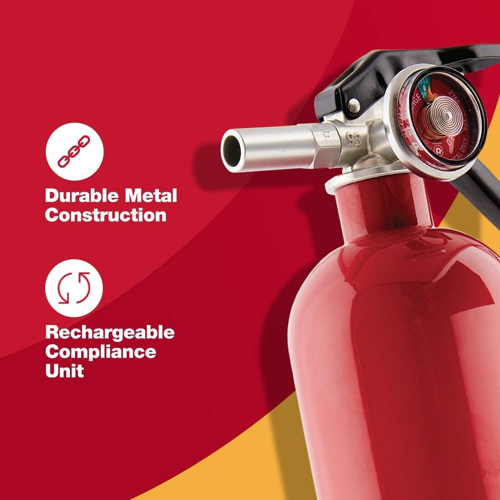 First Alert Fire Extinguisher | Garage FireExtinguisher, Red, GARAGE10 FE10GR
