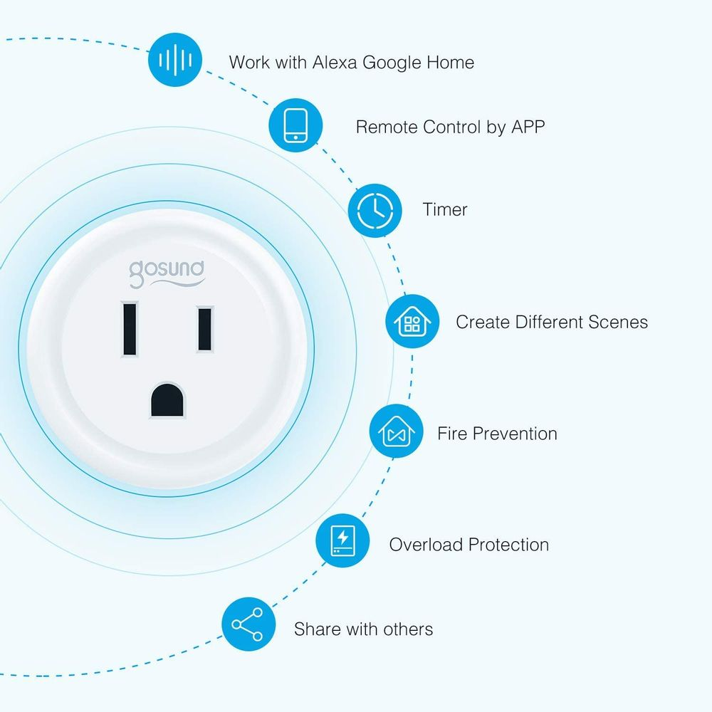 Smart Plug Work with Alexa and Google Home, TanTan WiFi Outlet Mini Socket Remote Control Only Supports 2.4GHz Network, ETL and FCC Listed 2 Packs