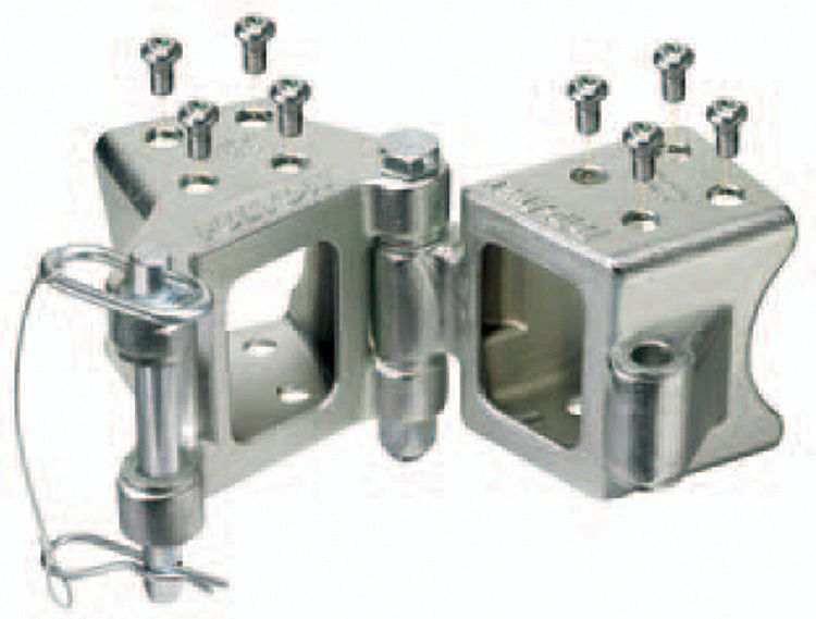 """Fulton HDPB230101 Fold-Away Bolt-On Hinge Kit for 2"""" x 3"""" Trailer Beam - up to 5,000 lb. GTW, Silver"""
