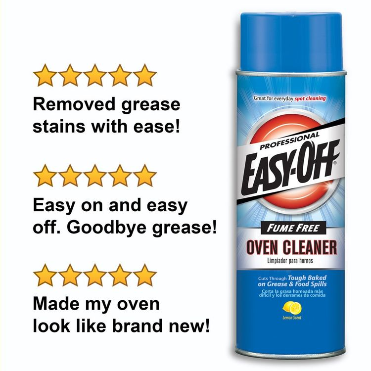 Easy-Off Professional Fume Free Max Oven Cleaner, Lemon 24 Ounce (Pack of 1)