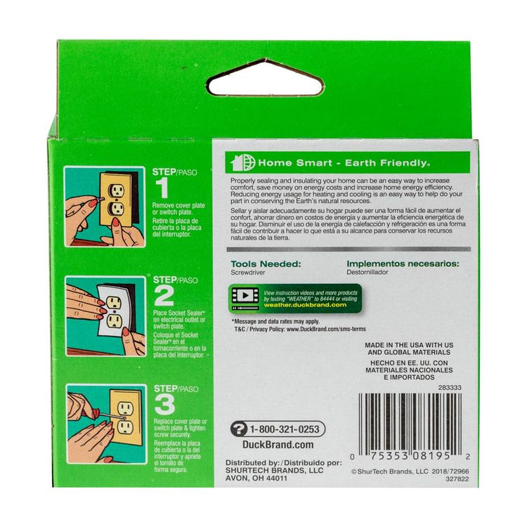Duck Brand Socket Sealers Variety Pack, 16 Outlet Sealers and 6 Switch Plates, 2 Decorative Covers, White, 283333