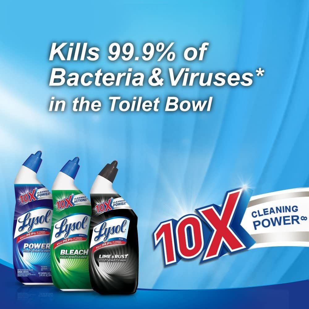Lysol Power Toilet Bowl Cleaner, 48oz (2X24oz), 10X Cleaning Power (packaging may vary)