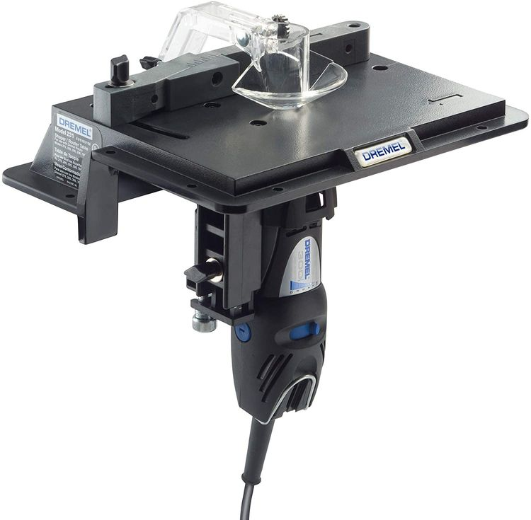 Dremel 231 Portable Rotary Tool Shaper and Router Table- Woodworking Attachment Perfect for Sanding, Shaping, and Trimming Edges