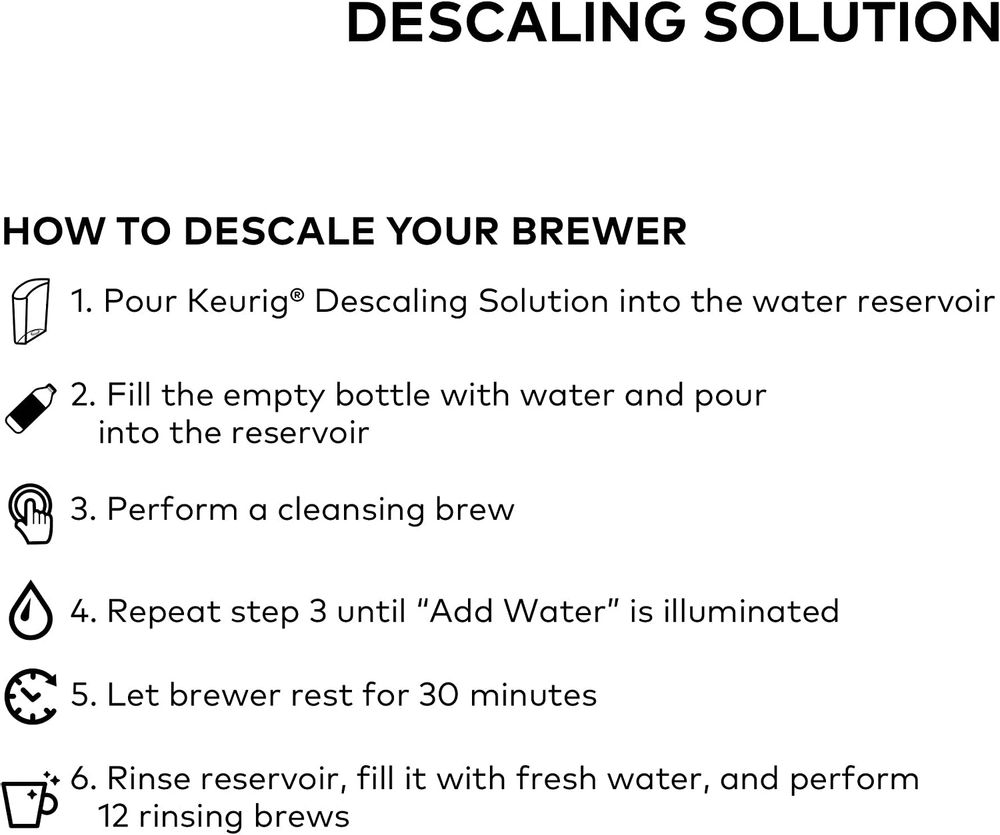 Keurig Care Kit Includes Descaling Solution & Water Filter Cartridges, Compatible Classic/1.0 & 2.0 K-Cup Pod Coffee Makers, 3 Count