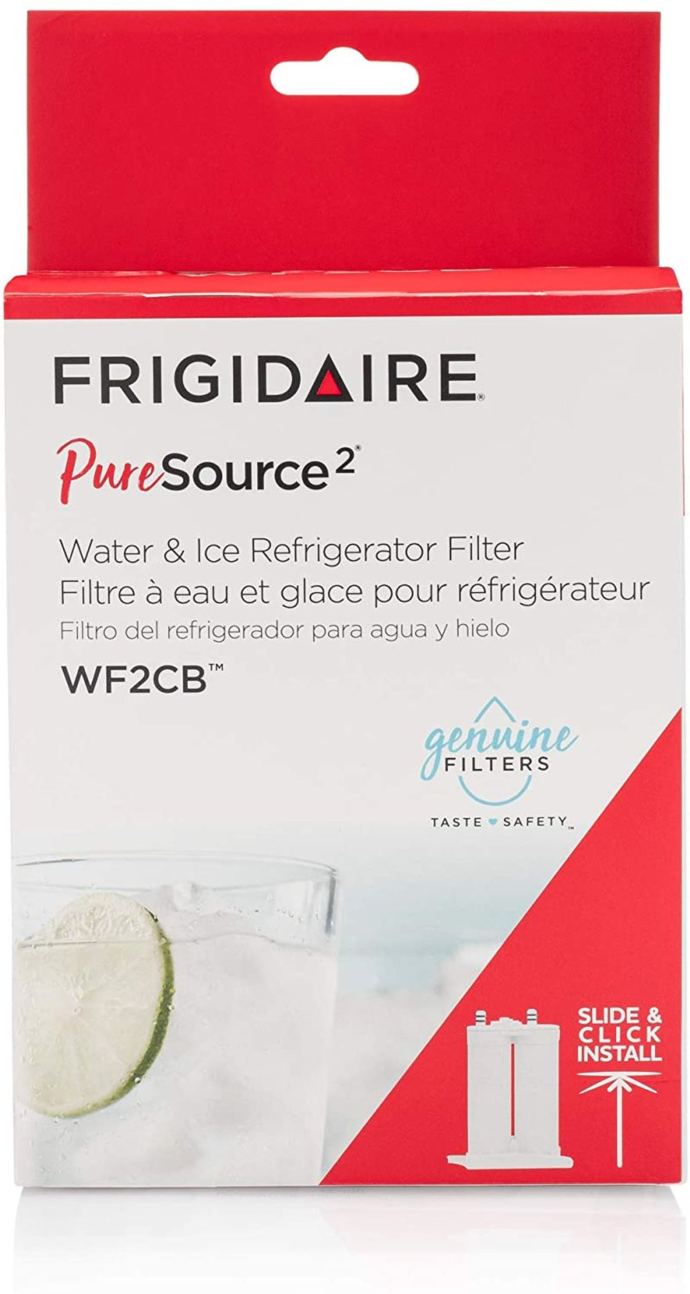 Frigidaire WF2CB PureSource2 Water Filter Cartridge, 1 Count, White