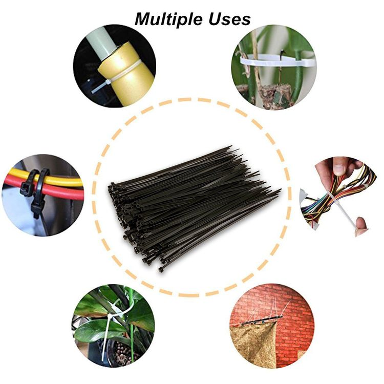 100 Pcs Nylon Cable Zip Ties with Adjustable Durable Self-Locking 4 inch Width 0.16inch for Home Office Garage Workshop Heavy Duty