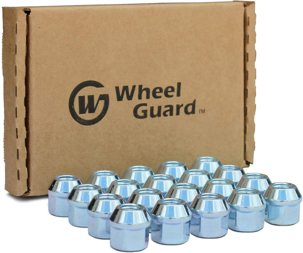 "WheelGuard 1104, Zinc Finish, Open-end Acorn Bulge Lug Nut, 1/2-20 Thread, 3/4"" Hex, (Pack of 20)"