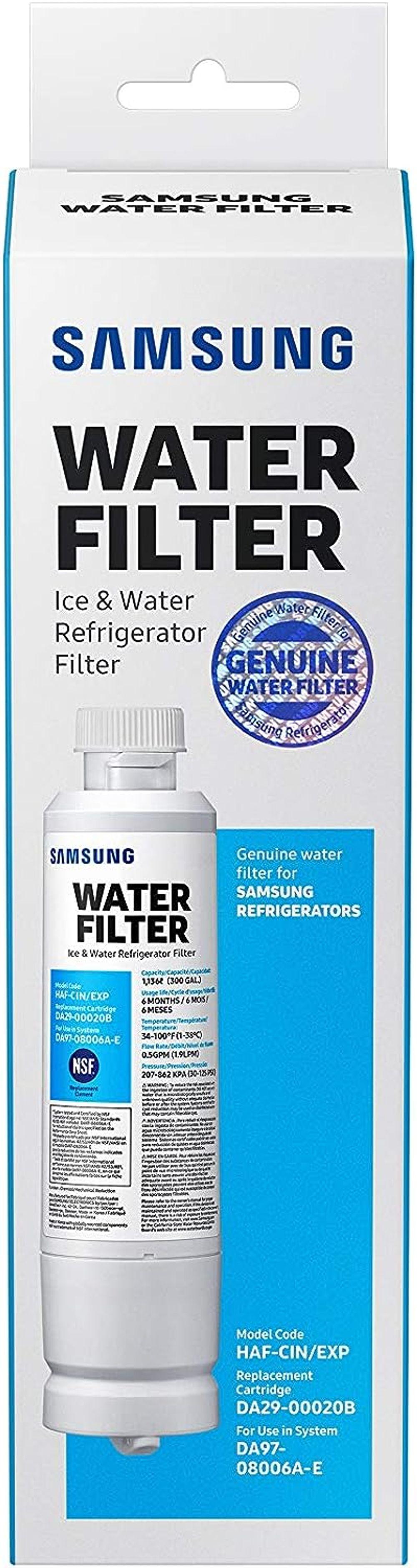 Samsung Da29-00020b-1P Refrigerator Water Filter 1 Pack (Packaging may vary)