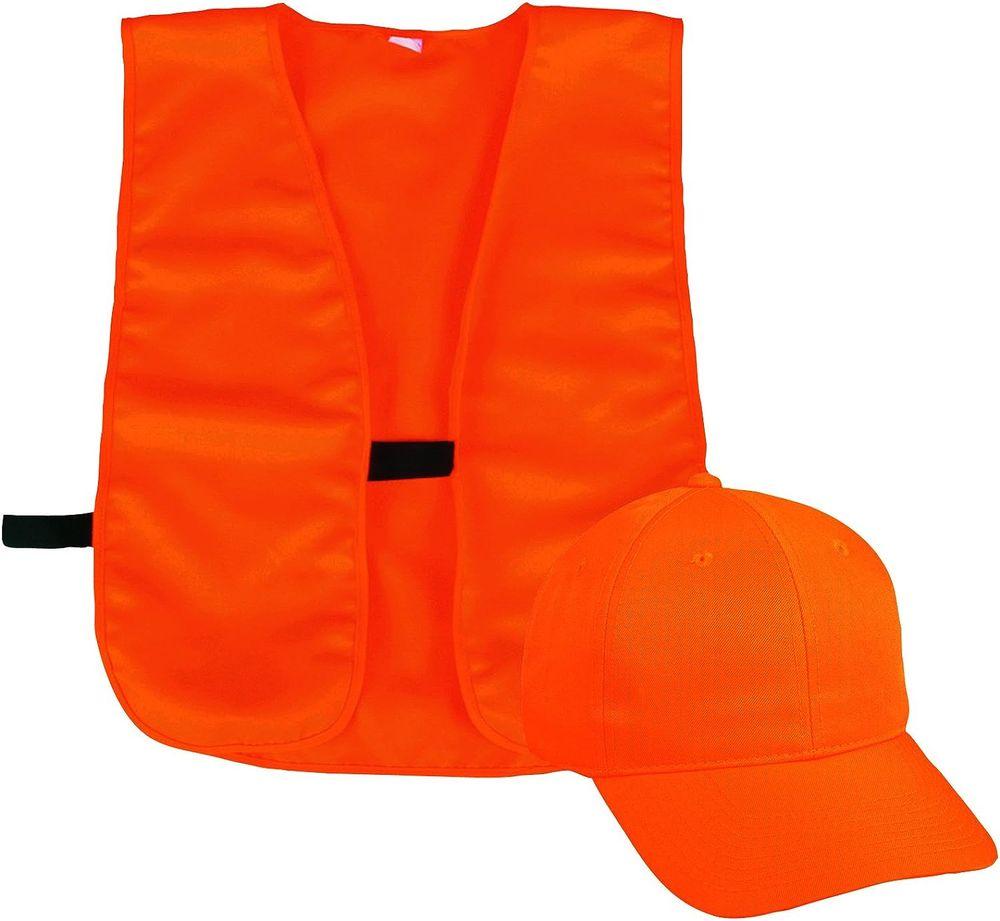 Outdoor Cap Vest and Cap Combo Youth Blaze Blaze Orange, One Size