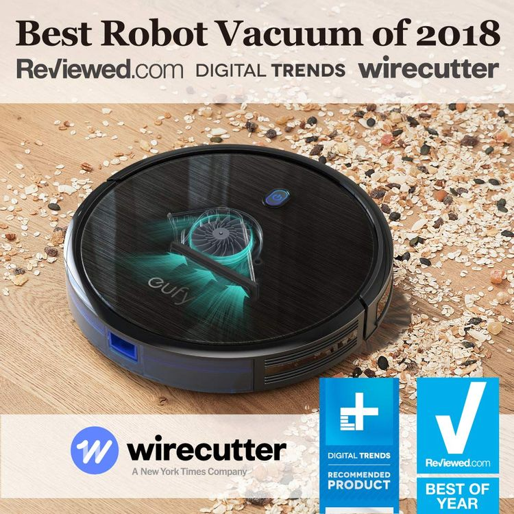 eufy BoostIQ RoboVac 11S (Slim), Robot Vacuum Cleaner, Super-Thin, 1300Pa Strong Suction, Quiet, Self-Charging Robotic Vacuum Cleaner, Cleans Hard Floors to Medium-Pile Carpets