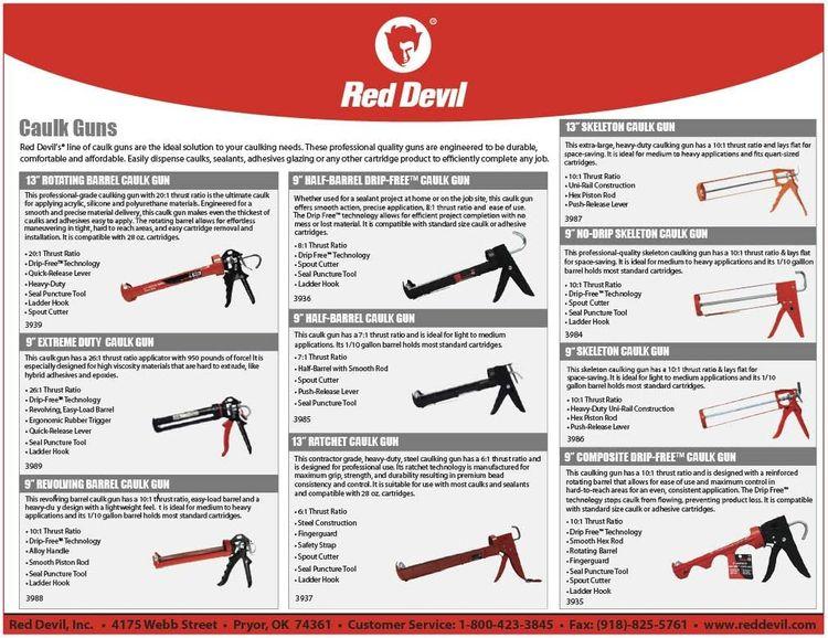 Red Devil 3989 Caulking Gun, Black