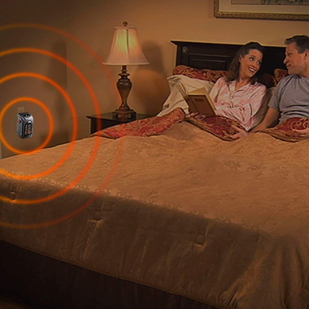 Ontel Handy Heater | Plug-in Personal Heater | Compact Design | Quick and Easy Heat | Digital Display | Great for Travel | On/Off with Timer
