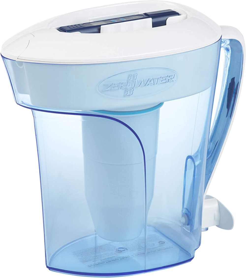 10 Cup Water Filter Pitcher with Water Quality Meter
