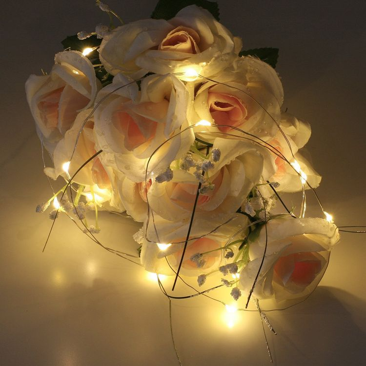 Sanniu Led String Lights, Mini Battery Powered Copper Wire Starry Fairy Lights, Battery Operated Lights for Bedroom, Christmas, Parties, Wedding, Centerpiece, Decoration (5m/16ft Warm White)