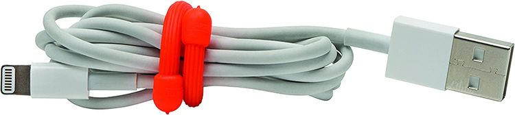 Nite Ize Original Gear Tie, Reusable Rubber Twist Tie, 3-Inch, Assorted Colors, 4 Pack, Made in the USA