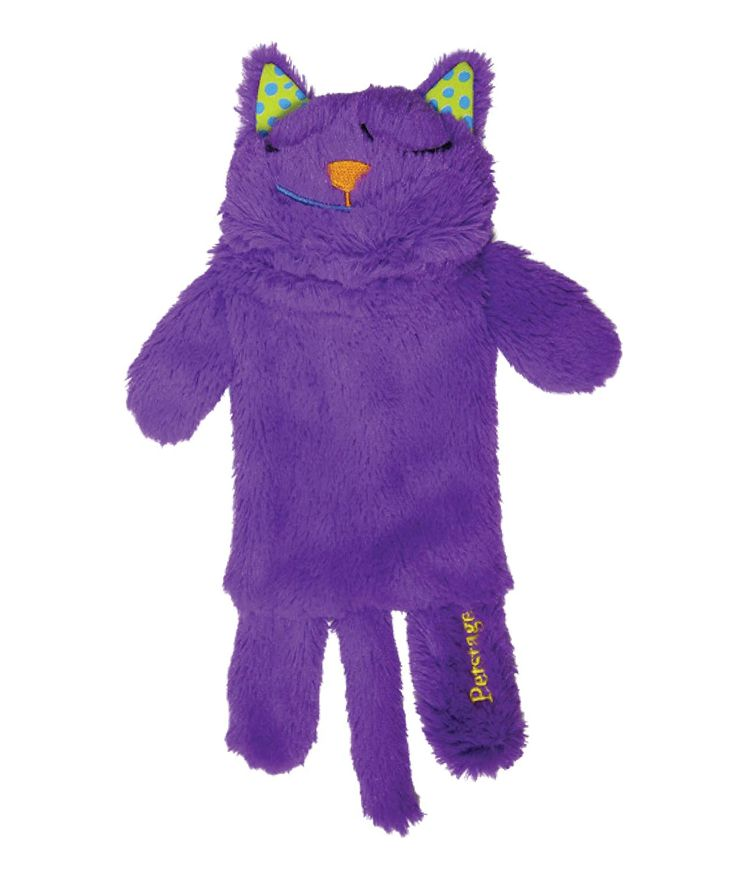 Petstages Purr Pillow Cat Toy For Nightime Play & Calm Comfort Featuring Soothing Noisemaker, Soft Plush Material, Medium, Purple