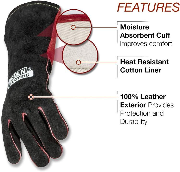 Lincoln Electric Women's MIG Stick Welding Gloves |Kevlar Stitching| Women's Small | K3232-S