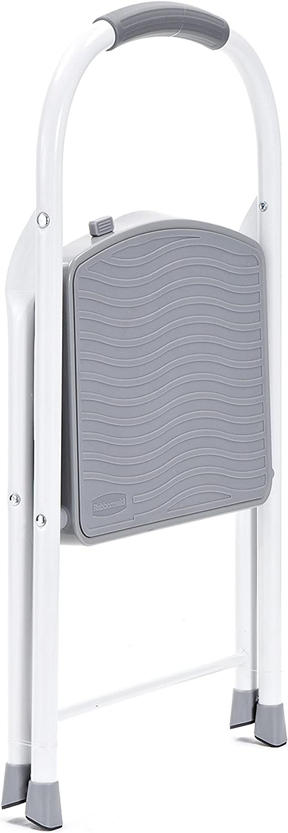 Rubbermaid RMS-1 1-Step Steel Step Stool, 225-pound Capacity, White