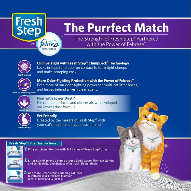 Fresh Step Multi-Cat with Febreze Freshness, Clumping Cat Litter, Scented