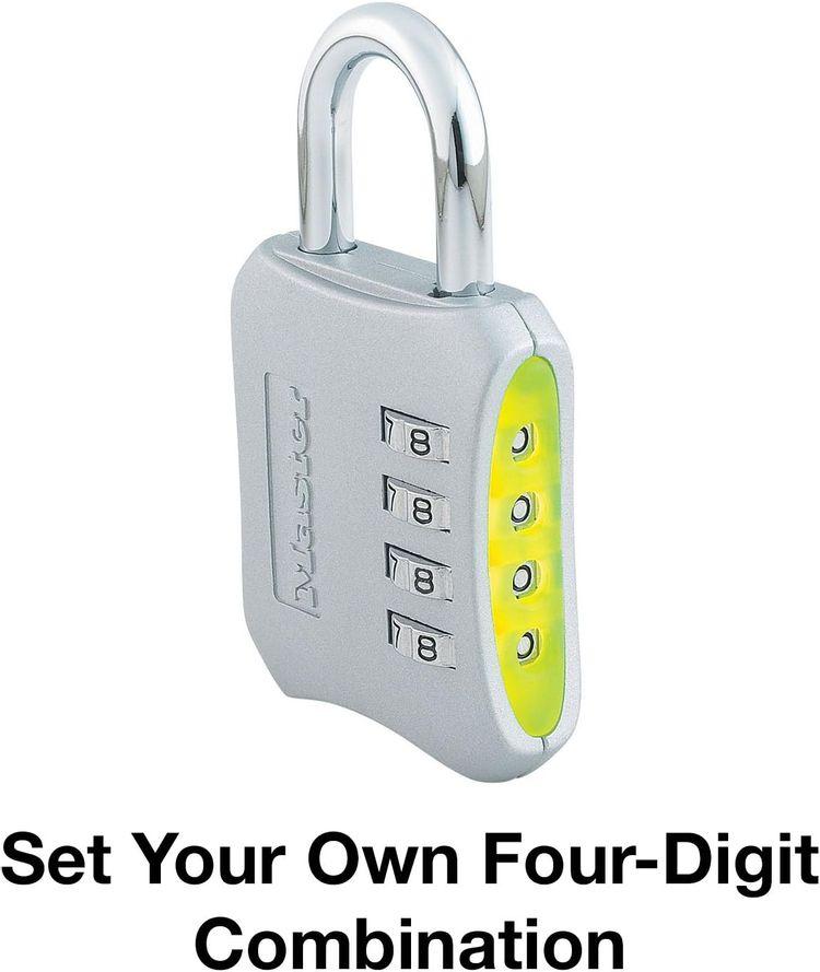 Master Lock 653D Locker Lock Set Your Own Combination Padlock, 1 Pack, Assorted Colors