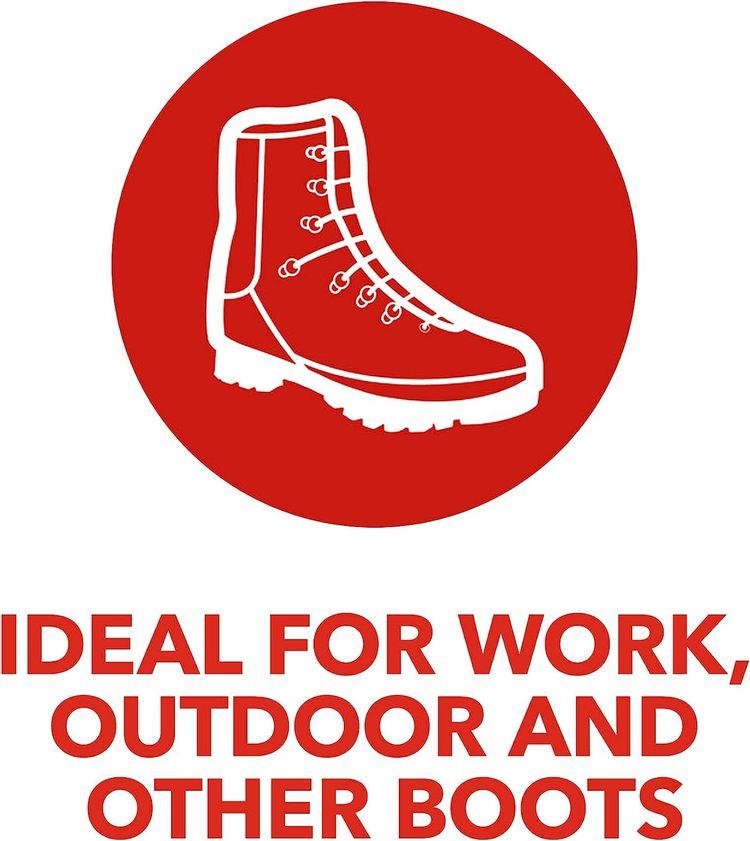 Kiwi Boot Waterproofer - Tough Silicone Waterproof Spray for Boots (1 Aerosol), 10.5 Oz