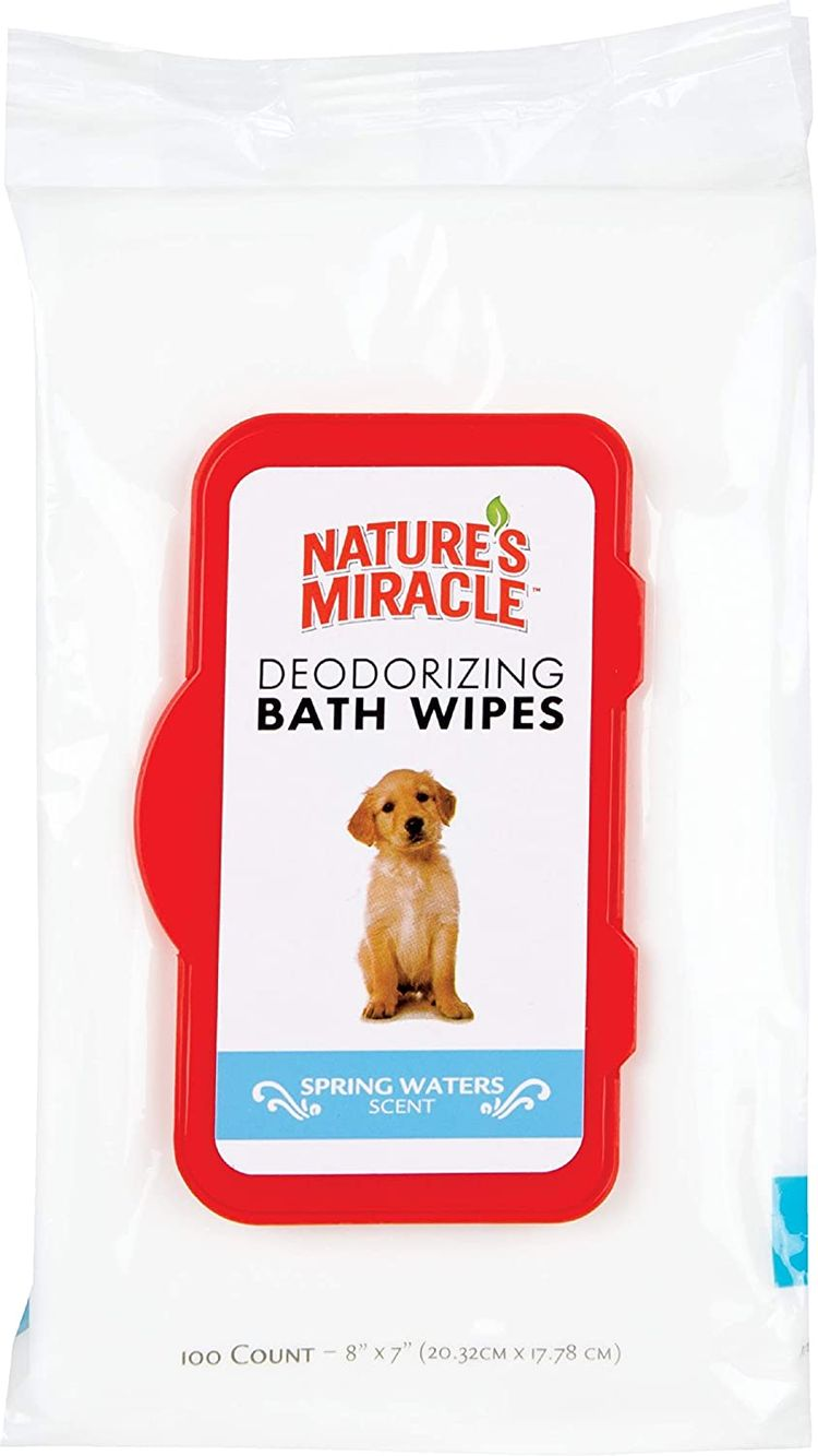 Nature's Miracle Deodorizing Spring Waters Dog Bath Wipes