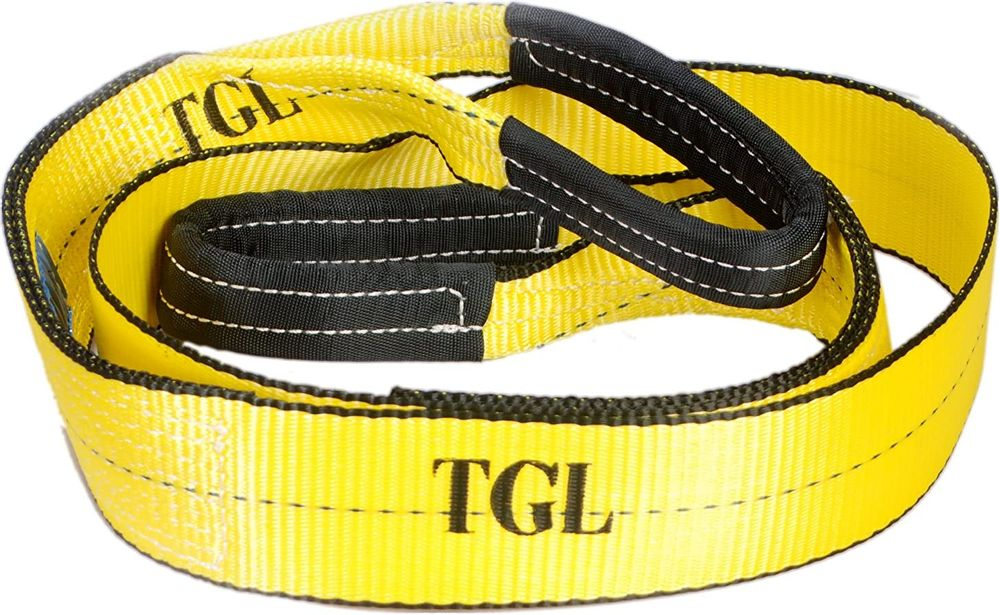 TGL 3 inch 8 foot 30,000 Pound Capacity Tree Saver, Winch Strap with 2-Pack of 3/4 inch Shackles
