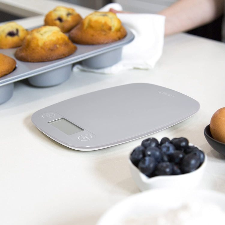 GreaterGoods Digital Food Kitchen Scale, Multifunction Scale Measures in Grams and Ounces (Grey)