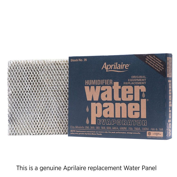 Aprilaire 35 Replacement Water Panel for Aprilaire Whole House Humidifier Models 350, 360, 560, 568, 600, 600A, 600M, 700, 700A, 700M, 760, 768 (Pack of 1)