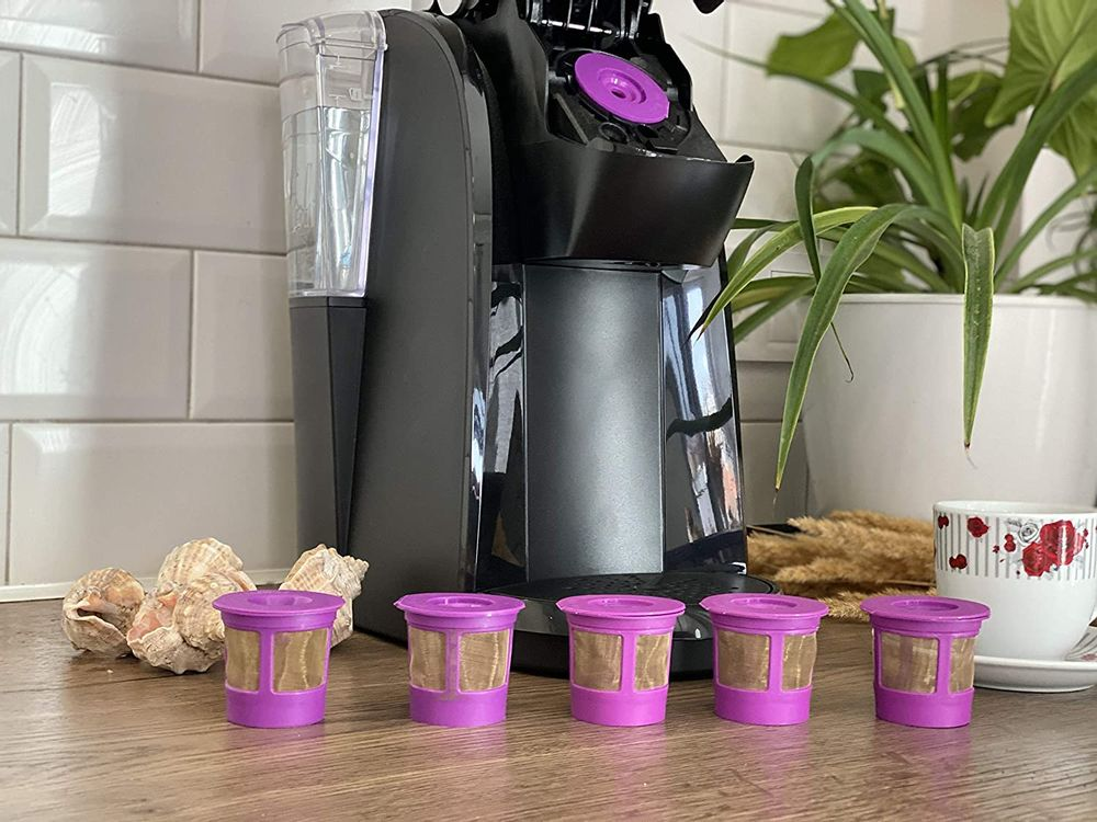 GoodCups 6 Reusable K Cups for Keurig K-Duo, K-Classic, K-Elite, K-Select, K-Cafe, K-Compact, K200, K300, K400, K500, Refillable Kcups Coffee Filters for 2.0 and 1.0 Brewers