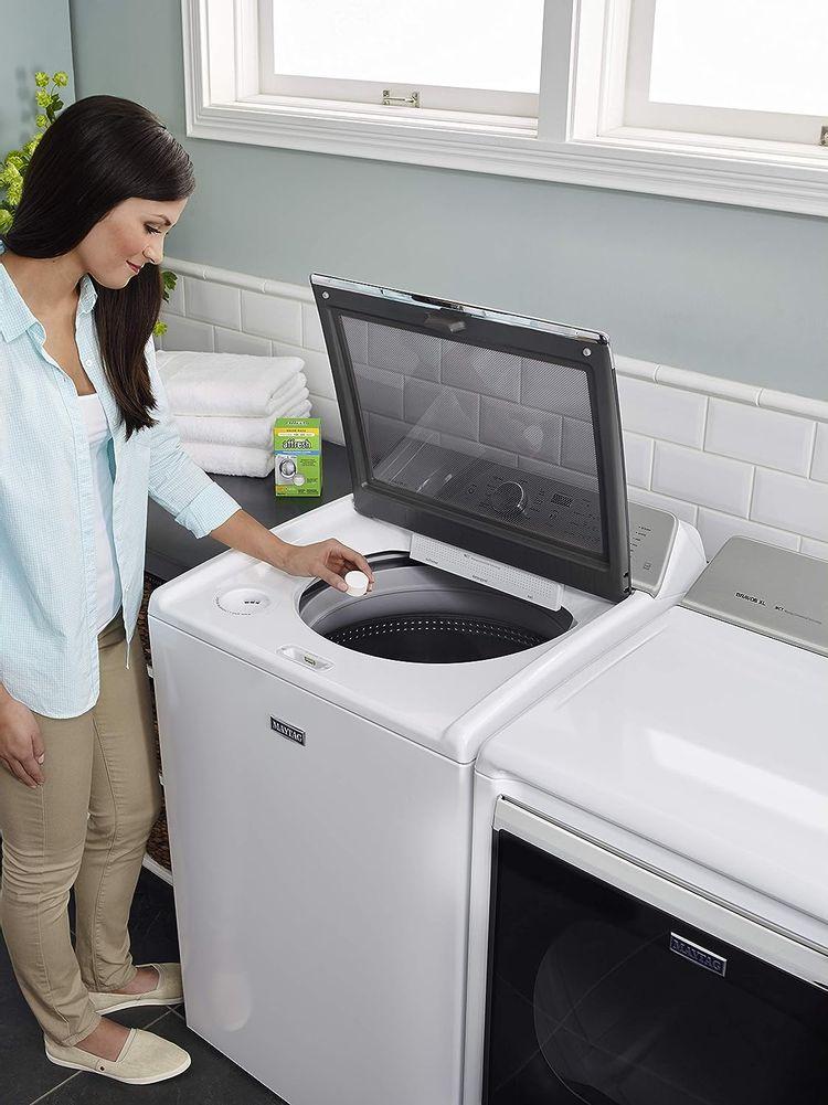 Affresh Washer Machine Cleaner, Whiite , 6-Tablets, 8.4 oz - W10501250