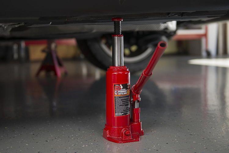 Torin Big Red Hydraulic Bottle Jack, 4 Ton Capacity