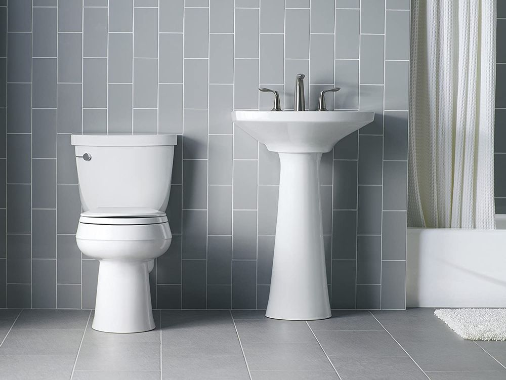 KOHLER K-4636-0 Cachet Elongated White Toilet Seat, with Grip-Tight Bumpers, Quiet-Close Seat, Quick-Release Hinges, Quick-Attach Hardware, No Slam Toilet Seat, white (White, 2-Pack)