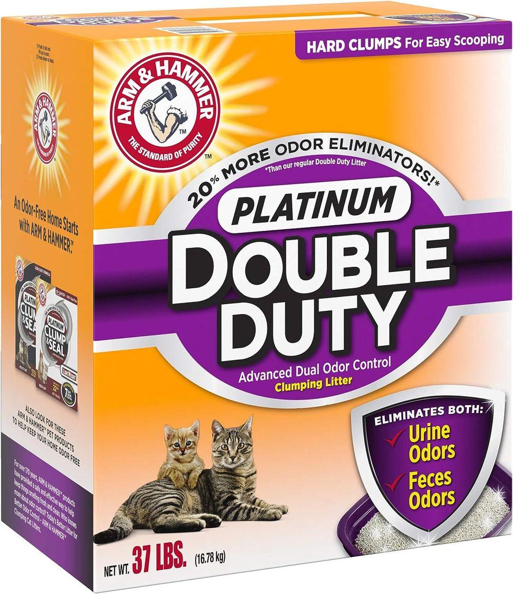 Arm & Hammer Platinum Double Duty Clumping Cat Litter, 37lb