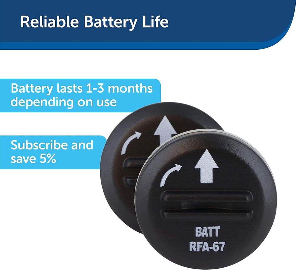 PetSafe RFA-67 6 Volt Replacement Batteries - 2 Pack - Compatible with PetSafe 6V Lithium Battery-Operated Pet Products and Specific Dog Receiver Collars - RFA-67D-11, Black
