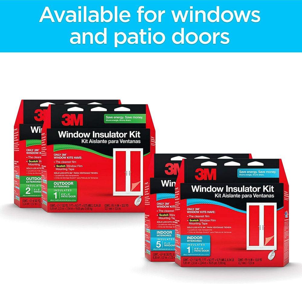 3M Indoor Patio Door Insulator Kit, 1-Patio Door