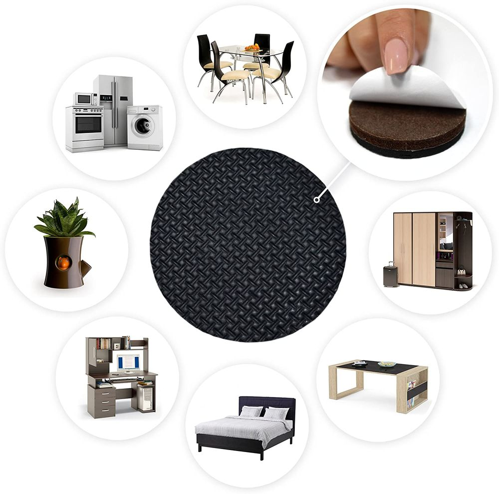 """Non Slip Furniture Grippers X-PROTECTOR – Premium 8 pcs 2"""" Furniture Pads! Best SelfAdhesive Rubber Feet for Furniture Feet – Ideal Non Skid Furniture Floor Protectors for Fixation in Place Furniture"""